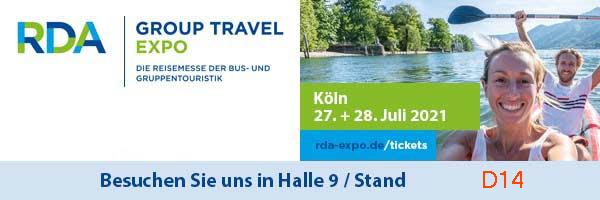 RDA Group Travel Expo, 27. + 28. Juli in Köln